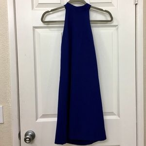 Lulu's Blue Halter Neckline Dress